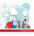 Nuclear power plant in a flat style vector image