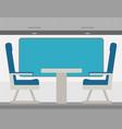 passenger train inside flat style vector image