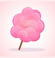 pink candy floss icon vector image vector image