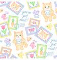 postal pattern vector image vector image