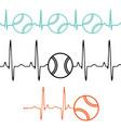 pulse tennis ball set vector image vector image
