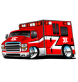 Red Paramedic Ambulance Rescue Truck