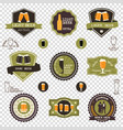 retro set of beer emblems - iconslabels posters vector image vector image