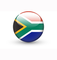 round icon with national flag of south africa