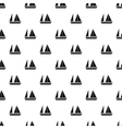 Sailing boat pattern simple style vector image vector image
