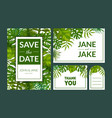 save date elegant wedding invitation vector image