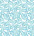 Seamless pattern with Blue flower petal vector image vector image