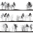 set different landscapes with pine trees vector image vector image