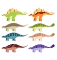 Set of armored dinosaurs vector image vector image