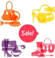 Set of fashion shopping icons vector image vector image