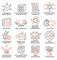 Set of icons related to business management - 25 vector image vector image