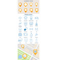 set of map location icons vector image vector image