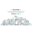Solutions - line design website banner temlate vector image vector image