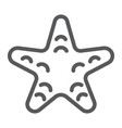 starfish line icon animal and underwater vector image vector image