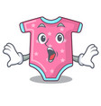 surprised cartoon baby clothes for the newborn vector image