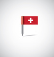 switzerland flag pin vector image vector image