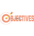target arrow color icon in word objectives vector image