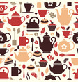 Tea seamless pattern of