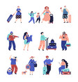 travel people travellers couple seniors tourist vector image vector image