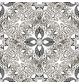 vintage black and white baroque seamless pattern vector image vector image