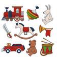 vintage old fashioned toys for children vector image vector image