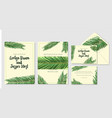 wedding personal menu invitation envelope label vector image