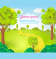 Glade in the middle of the park vector image