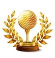 Golden golf award vector image
