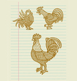 Vintage Decorative Rooster Sketches vector image