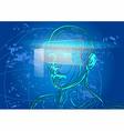 virtual reality vector image