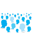 blue business people crowd background vector image