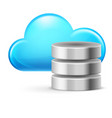 cloud computing and database on white vector image