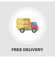 Delivery Car flat icon vector image
