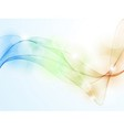 Colorful wave pattern background vector image