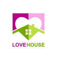 love house realty logo vector image