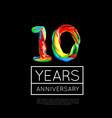 10th anniversary congratulation for company vector image