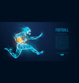 abstract football player rugby american vector image vector image