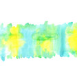 abstract yellow blue and green watercolor vector image vector image