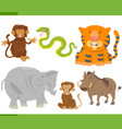 animal characters collection vector image vector image