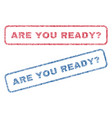 are you ready question textile stamps vector image vector image