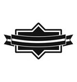 badge ribbon icon simple black style vector image vector image