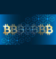 blockchain bitcoin background vector image vector image