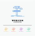 build design develop tool tools 5 color line web vector image