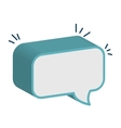 Chat bubble speakbox graphic design vector image