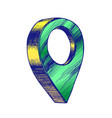 color map pointer gps location sign detail symbol vector image vector image