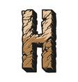 colorful vintage alphabet letter h concept