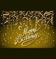 concept party on gold background top view happy vector image vector image