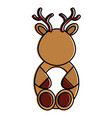 cute and tender reindeer character vector image vector image