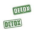 Detox rubber stamp isolated on white background vector image vector image
