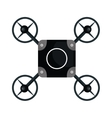 drone quadrocopter black isolated vector image